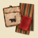 Bear Embroidered 3 pc Gift Set
