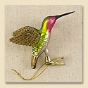Calliope Hummingbird Glass Ornament
