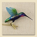 Violet-Bellied Hummingbird Glass Ornament