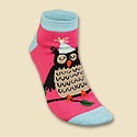 Party Owl Slipper Socks