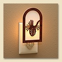 Rustic Pine Cone Night Light