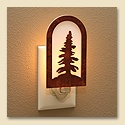 Rustic Pine Tree Night Light