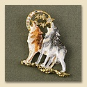 Howling Wolf Family Pin