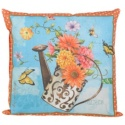 Flower Power Weather Resistant Square Pillow