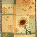 Garden Sunflower Tapestry Throw