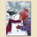 Kissing the Snowman Card