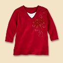 Jeweled Poinsettia Tee