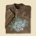 Frosted Snowflake Long Sleeve Tee