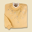 Golden Floral Sweep Pullover
