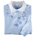 Lace Flower Blues Pullover