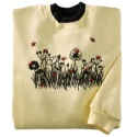 Flocked Field and Ladybug Pullover