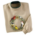 Wild Bird Wreath Pullover