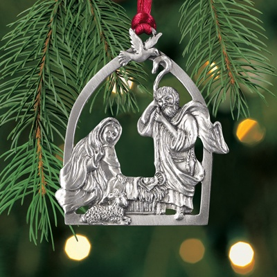 Nativity Plant a Tree Ornament