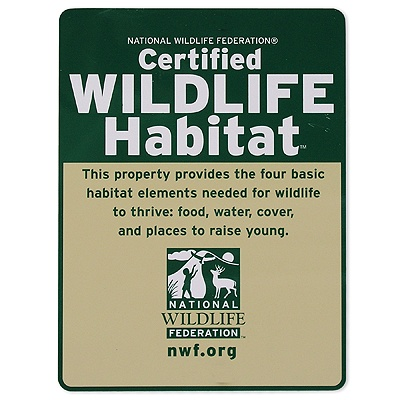 Classic Certified Wildlife Habitat Sign