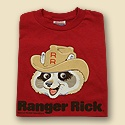 Ranger Rick Youth Vintage Tee Red
