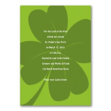 Shamrock Celebration - Invitation