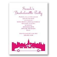 On the Town - Watermelon - Party Invitation
