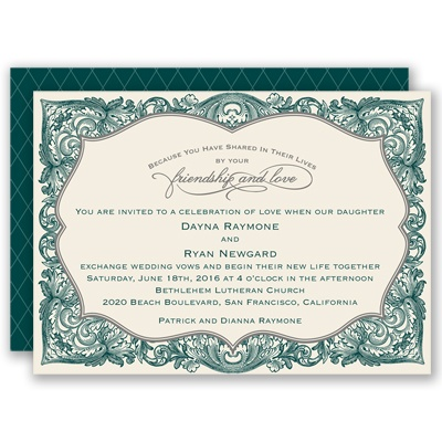 Antique Border - Gem - Invitation