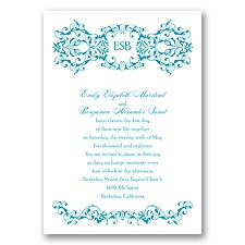 Ornate Date - Malibu - Invitation