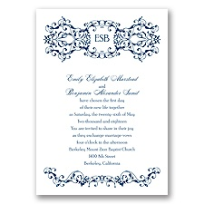 Ornate Date - Marine - Invitation