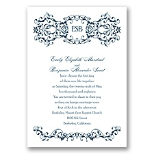 Ornate Date - Peacock - Invitation