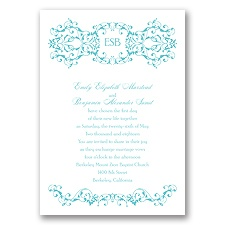 Ornate Date - Pool - Invitation