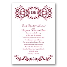 Ornate Date - Apple - Invitation