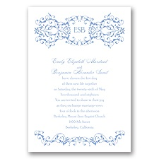 Ornate Date - Bluebird - Invitation