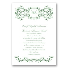 Ornate Date - Clover - Invitation