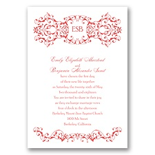 Ornate Date - Guava - Invitation