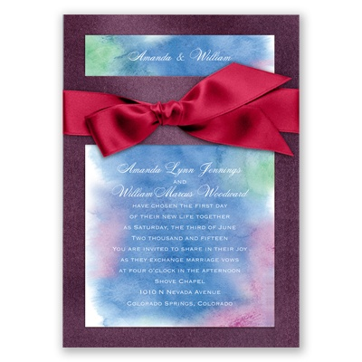 Treasured Jewels Cool Rainbow - Jasper Invitation