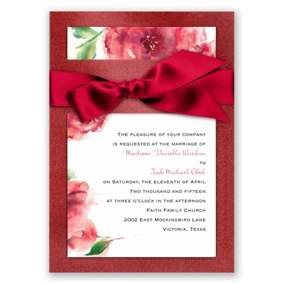 Treasured Jewels Splendor - Ruby & Garnet Invitation