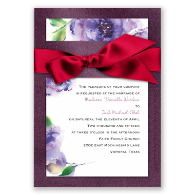 Treasured Jewels Splendor - Purple & Jasper Invitation