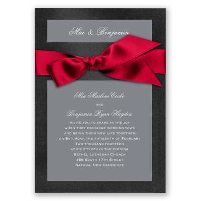 Treasured Jewels Solid - Onyx & Bright White Invitation