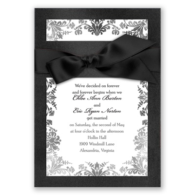 Treasured Jewels Washed Filigree - Onyx Invitation