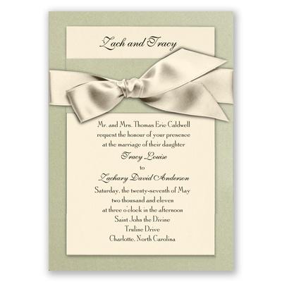 Treasured Gems - Sage & Ecru Invitation