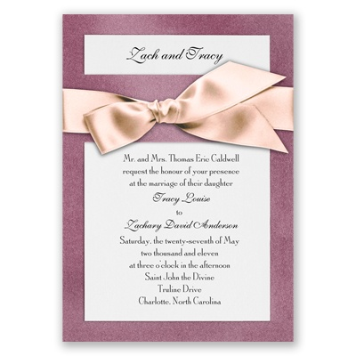 Treasured Gems - Amethyst & Bright White Invitation