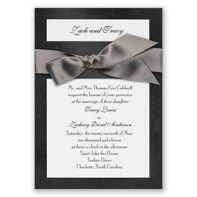 Treasured Gems - Onyx & Bright White Invitation