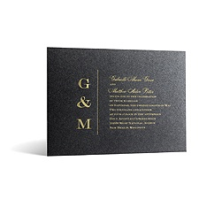 Classical Monogram in Foil Print - Onyx Shimmer - Invitation