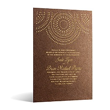 Shining Pearls in Foil Print - Tiger's Eye Shimmer - Invitation