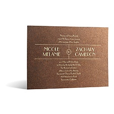 Wedding Radiance in Foil Print - Tiger's Eye Shimmer - Invitation