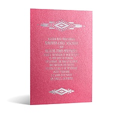 Art Deco Dazzle in Foil Print - Hot Pink Shimmer - Invitation