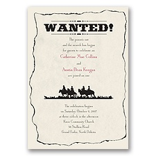 Wanted - Black - Invitation
