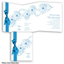 Dreamy Roses - Cornflower - Invitation