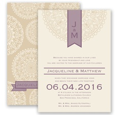 Shangri Love - Wisteria - Invitation