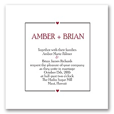 Chevron Sweethearts - Black - Invitation