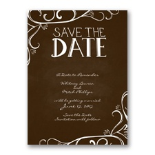 Fanciful Chalkboard - Chocolate - Save the Date