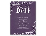 Fanciful Chalkboard - Plum - Save the Date
