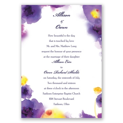 Bright Beauty - Regency - Invitation