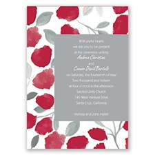 Floral Gallery - Apple - Invitation